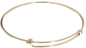 Asos Knotted Fine Bangle Bracelet - Gold