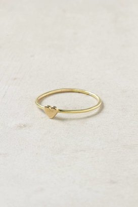 Anthropologie Wee Heart Ring, Brass