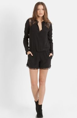 Maje 'Evening' Silk Romper