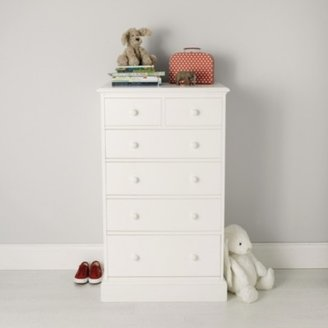 The White Company Classic Tallboy Chest of Drawers, White, One Size