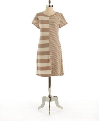 Calvin Klein Contrast Striped Dress
