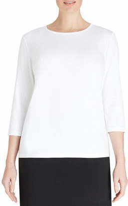 Lafayette 148 New York Plus Size 3/4-Sleeve Jersey Top