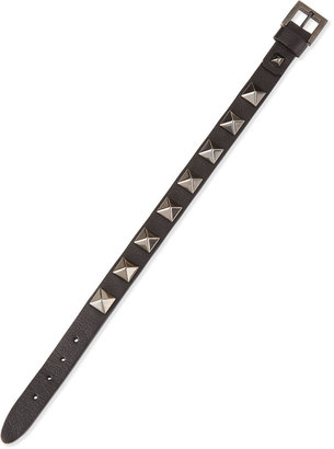 Valentino Small Rockstud Bracelet, Black