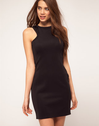 TFNC Body-Conscious Dress With High Neck Racer Style