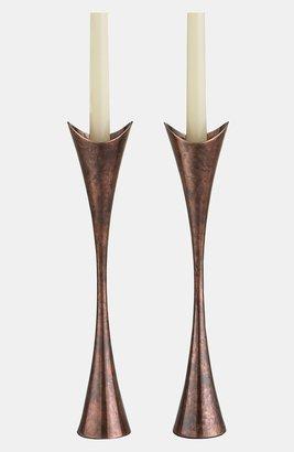 Nambe 'Heritage Curve' Candlesticks