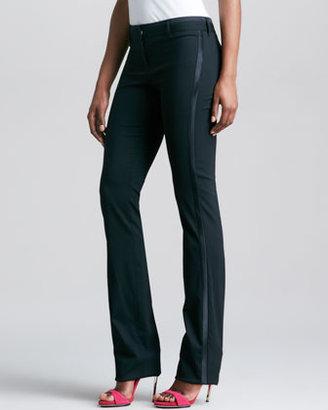 Roberto Cavalli Straight-Leg Stretch Wool Pants, Black
