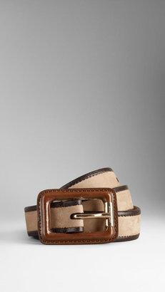 Burberry Contrast Bridle Leather Belt