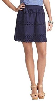 LOFT Tall Eyelet Cotton Skirt