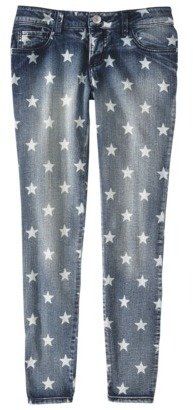 Mossimo Juniors Rolled Cropped Denim - Star Print