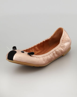 Marc by Marc Jacobs Soft Mouse Ballerina Flat, Rose Gold