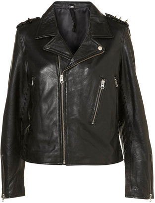 Topshop Motorhead Leather Jacket By And Finally