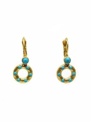 Tryst Style Round Bead Drop Earrings