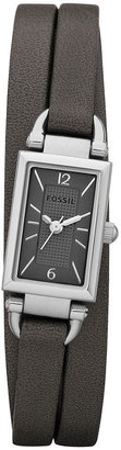 Fossil Watch, Women's Delany Ash Leather Triple Wrap Strap 23x16mm JR1371