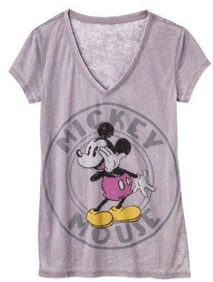 Juniors Mickey Mouse Graphic Tee - Gray