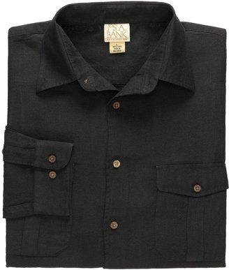 Jos. A. Bank VIP Linen Point Collar Long Sleeve Sportshirt