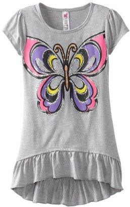 Beautees Girls 7-16 Butterfly High Low Top
