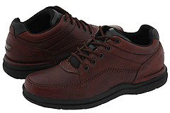 Rockport World Tour Classic (Black Tumbled Leather) - Footwear