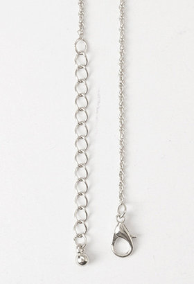 Forever 21 Rhinestoned Spike Necklace