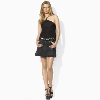 Ralph Lauren Blue Label Repaired Denim Skirt
