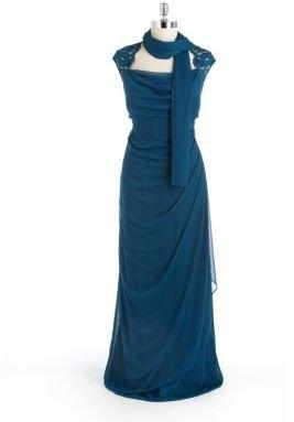 Xscape Evenings Plus Plus-Size Cowlneck Gown