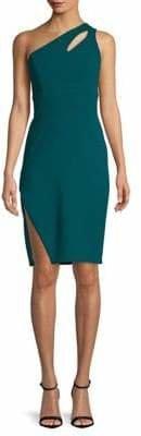 Xscape Evenings One-Shoulder Mini Dress
