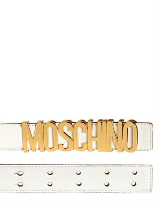 Moschino 35mm Logo Low Waist Belt