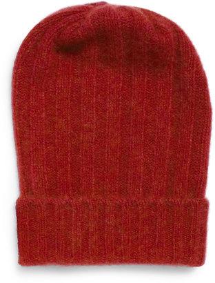 The Elder Statesman Bunny Echo Ribbed Cashmere Beanie Hat