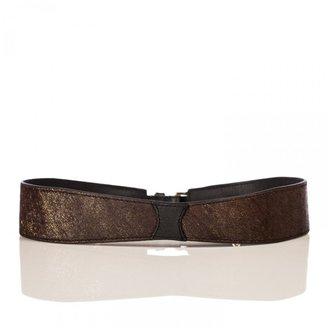 Linea Pelle Allegra Metallic Haircalf Waist Belt