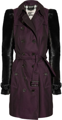Burberry Mid-length cotton-gabardine and goat hair trench coat