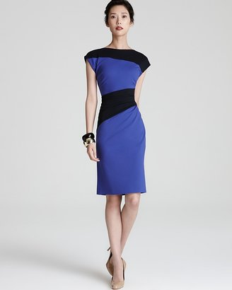 Escada Jersey Dress - Color Block with Side Ruching