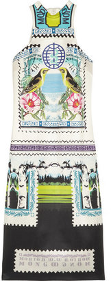 Mary Katrantzou Rodizio printed silk-twill dress