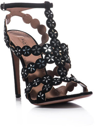 Azzedine Alaia Suede and mirror sandals