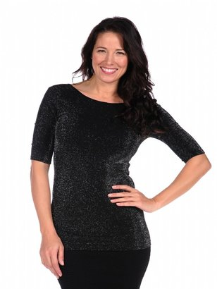 Tees by Tina Sparkle Reversible Ballet Sleeve