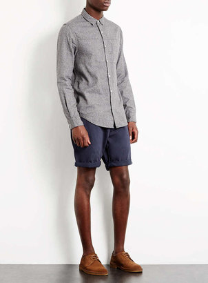 Topman Navy Chino Shorts