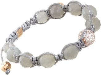 Shamballa Jewels Moonstone & Pave Diamond Bead Bracelet