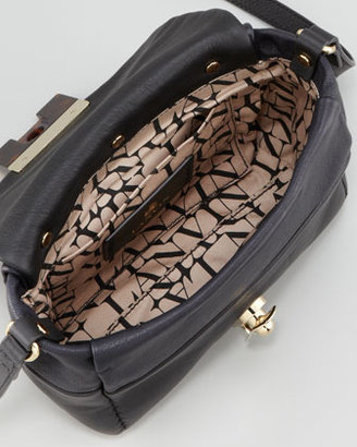 Lanvin For Me Leather Crossbody Bag, Dark Blue/Black