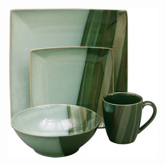 Avanti Sango green 16-pc. square dinnerware set