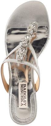 Badgley Mischka Kittie Jeweled Thong Sandals