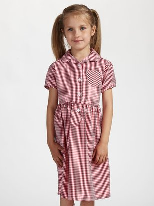 John Lewis & Partners School Belted Gingham Checked Summer Dress