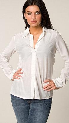 Da-Nang Da Nang White Woven Button-Up Blouse