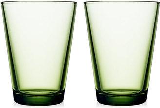 Iittala Glassware, Set of 2 Large Kartio Tumblers