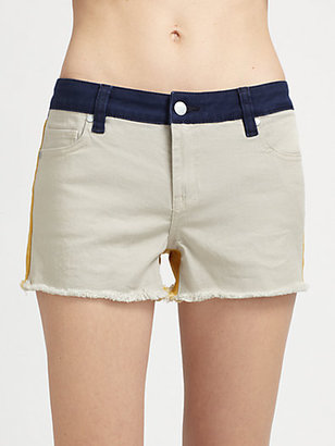 Genetic Denim The Ivy Denim Colorblock Shorts