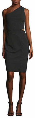 Laundry by Shelli Segal One-Shoulder Cut-Out Crepe Dress