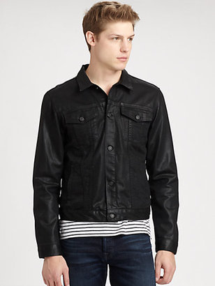7 For All Mankind High Gloss Coated Denim Jacket
