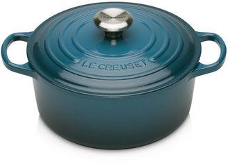 Le Creuset Signature Cast Iron 28cm Round Casserole Deep Teal