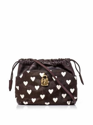 Burberry Little Crush heart calf-hair bag