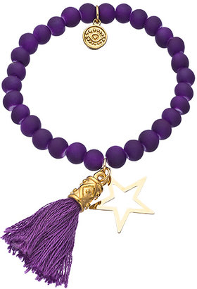 Blee Inara Beaded Tassel and Star Charm Stretch Bracelet