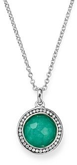 Ippolita Sterling Silver Stella Lollipop Pendant Necklace in Turquoise Doublet with Diamonds, 16