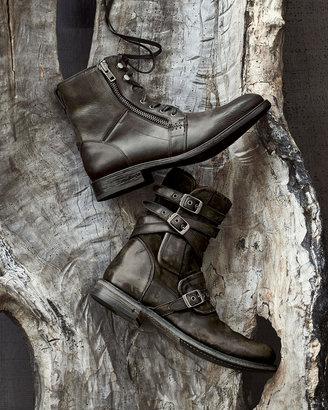 John Varvatos Multi-Strap Buckle Boot, Charcoal