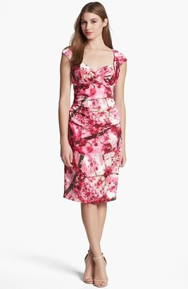 Suzi Chin for Maggy Boutique Ivy & Blu Print Sheath Dress